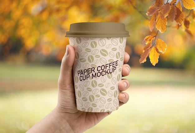 Papieren kopje koffie mockup