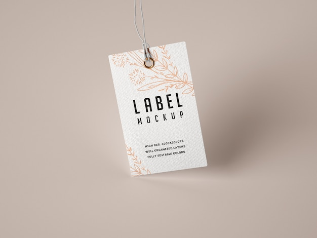 Papieren label mockup