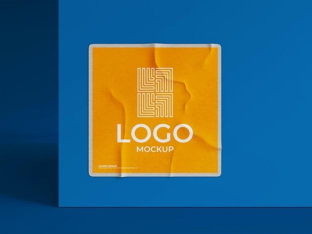 Papieren logo mockup 3d render
