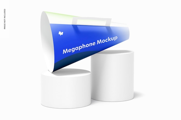 Papieren megafoonmodel, perspectief