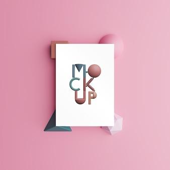 Papieren mock-up. 3d render