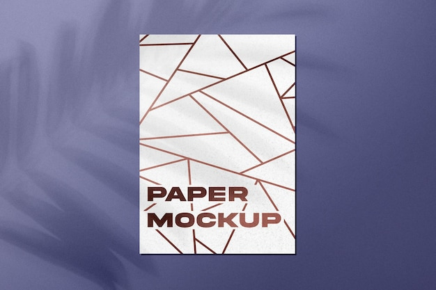 Papieren mockup met schaduw-overlay