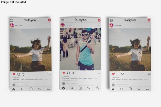 Papieren mockup voor instagram-bericht