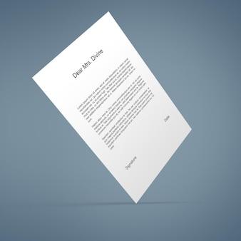 Papieren mockup