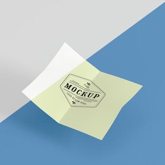 Papieren pop concept mock-up