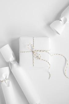 Papieren snoepjes maken minimalistische mockup schoon