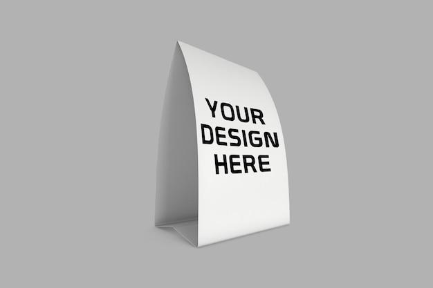 Papieren tafel expositor mockup ontwerp