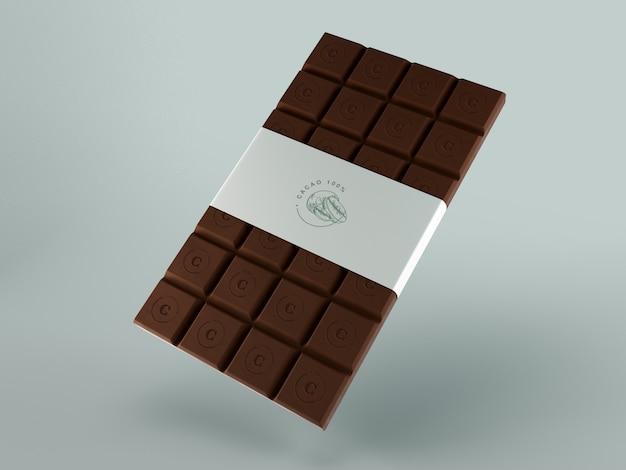 Papieren verpakking voor chocoladetablet