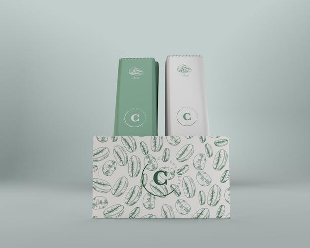 Papieren verpakkingen voor chocolade en doosontwerp