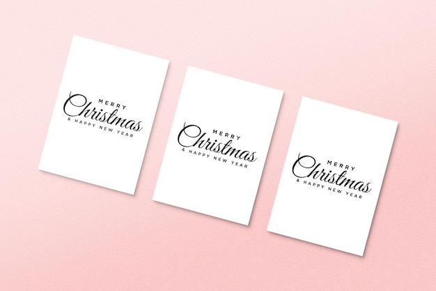 Papieren wenskaartmodel met kerstelementen