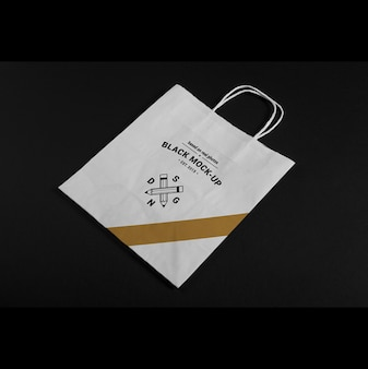 Papieren zak mock up design