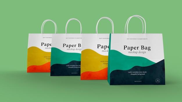 Papieren zak ontwerp geïsoleerd mockup