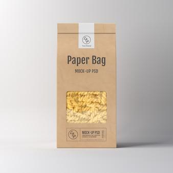 Papieren zak verpakking mockup