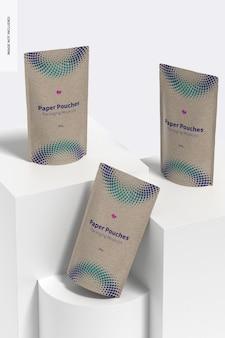 Papieren zakjes verpakking mockup