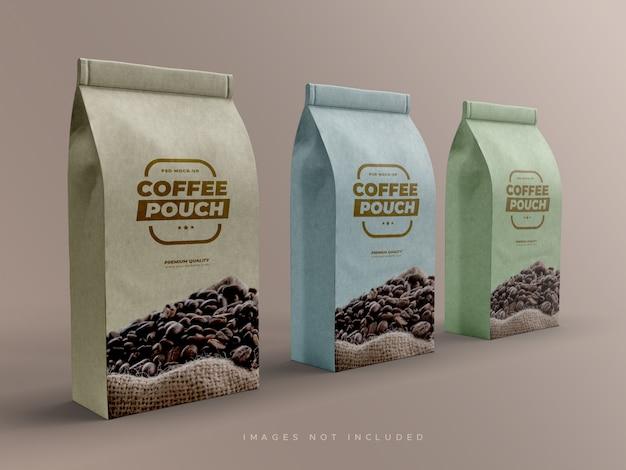 Papieren zakverpakking voor koffiebonen en andere etenswaren