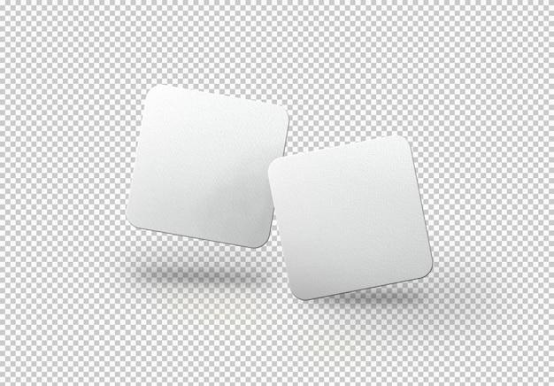 Paquete aislado o tarjetas cuadradas
