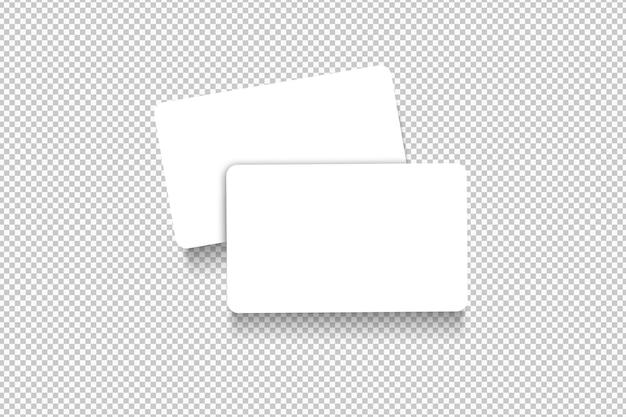 Paquete aislado de tarjetas blancas