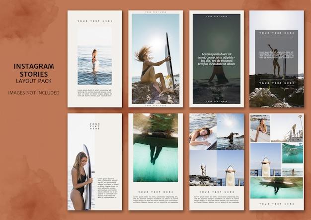 Paquete de diseño de historias de instagram
