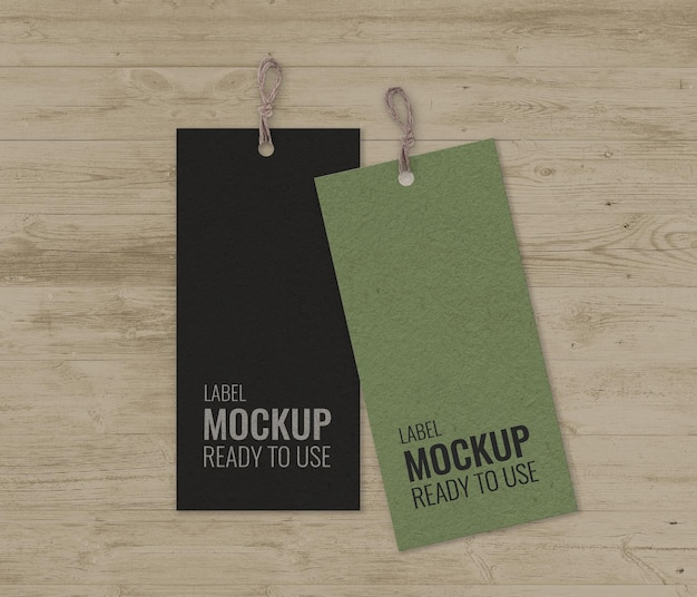 Paquete de etiquetas con maqueta de rayas.