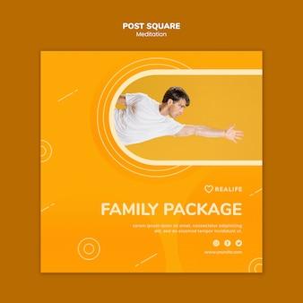 Paquete familiar de meditación post square