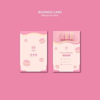 Paquete de macarons estilo tarjeta de visita