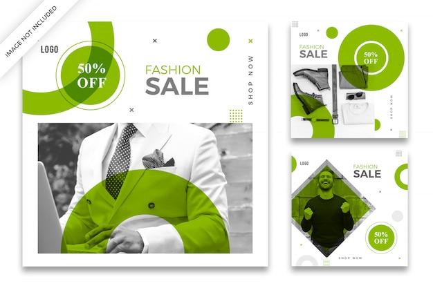 Paquete de plantillas de publicaciones de instagram de venta de moda