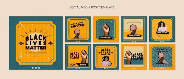 El paquete de publicaciones de instagram para vidas negras importa