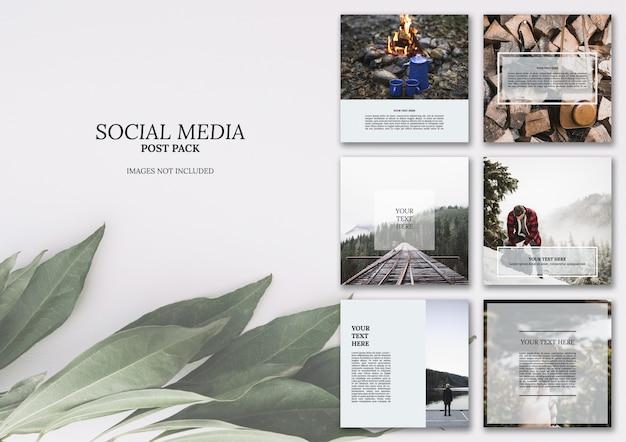 Paquete de publicaciones de redes sociales