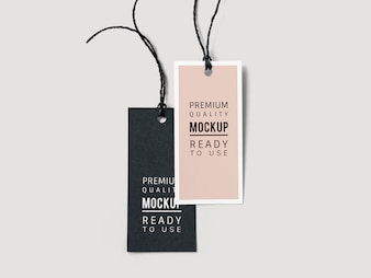 Par de maquetes de marca de etiqueta de moda