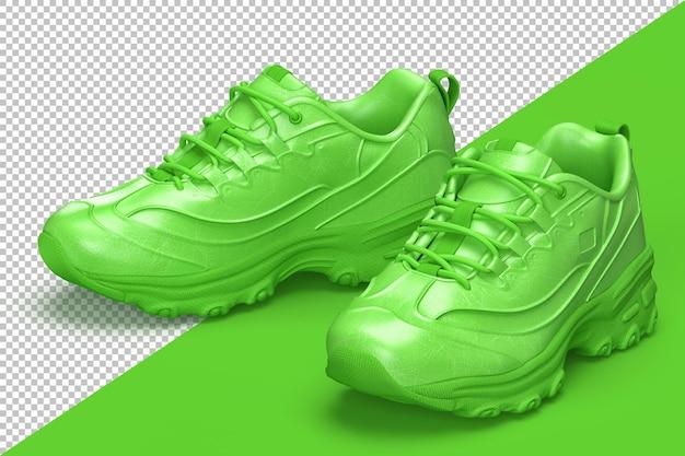 Un par de elegantes zapatos deportivos aislados PSD Premium