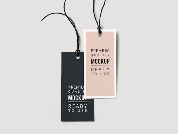 Par de maquetas de etiqueta de etiqueta de moda