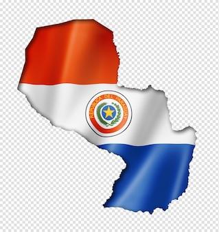 Paraguayaanse vlag kaart