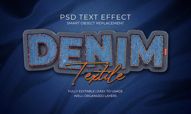 Parche textil denim efecto texto