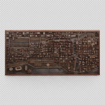 La pared de la decoración isométrica 3d aislado render