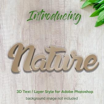 Pared de hormigón texturado 3d texturas de photoshop estilo de capa efectos de texto