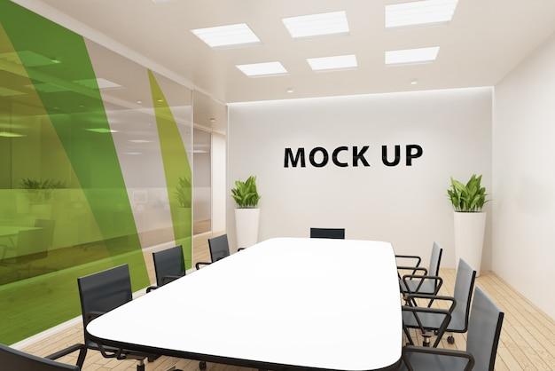 Pared de la sala de reuniones de maquetas