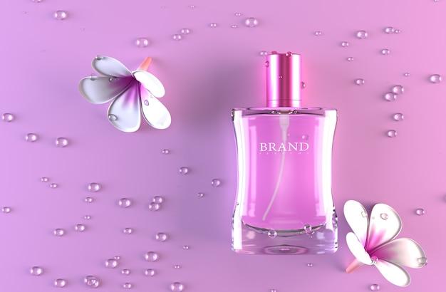 Parfum verpakking 3d render mockup