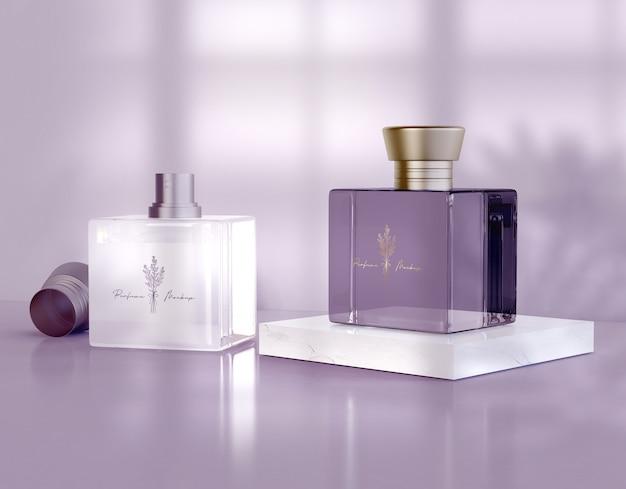 Parfumflesjes mockup