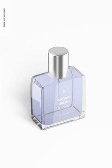 Parfumflesmodel isometrisch linkeraanzicht