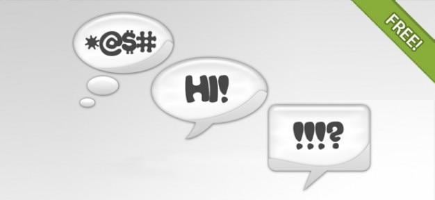Parola e pensiero chat bubbles