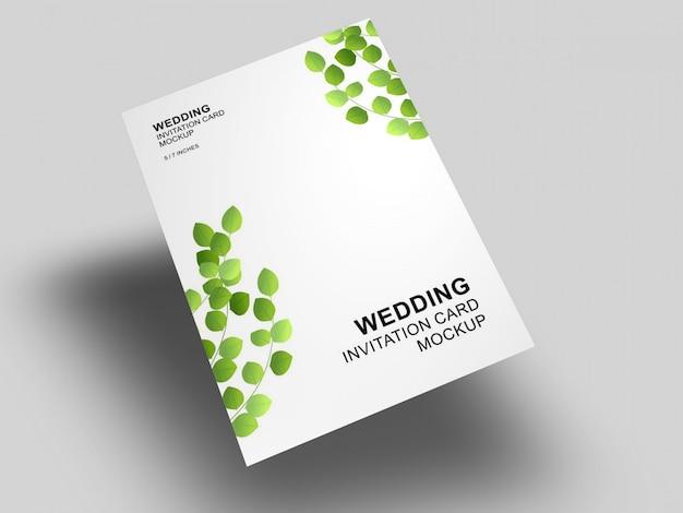 Partecipazione di nozze elegante semplice e pulita con modello di busta mockup