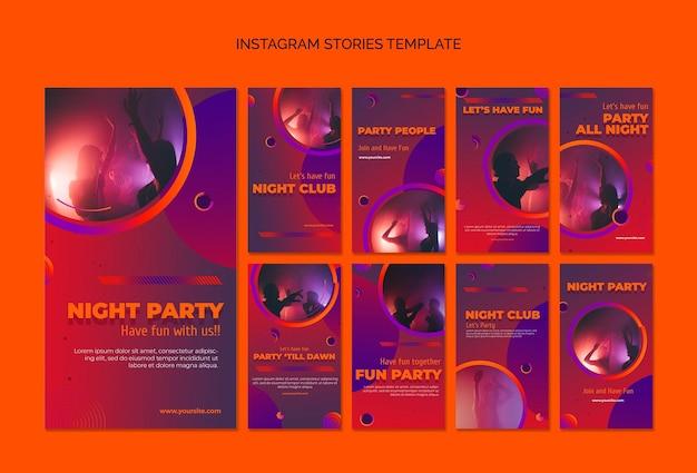 Partij instagram verhalen sjabloon