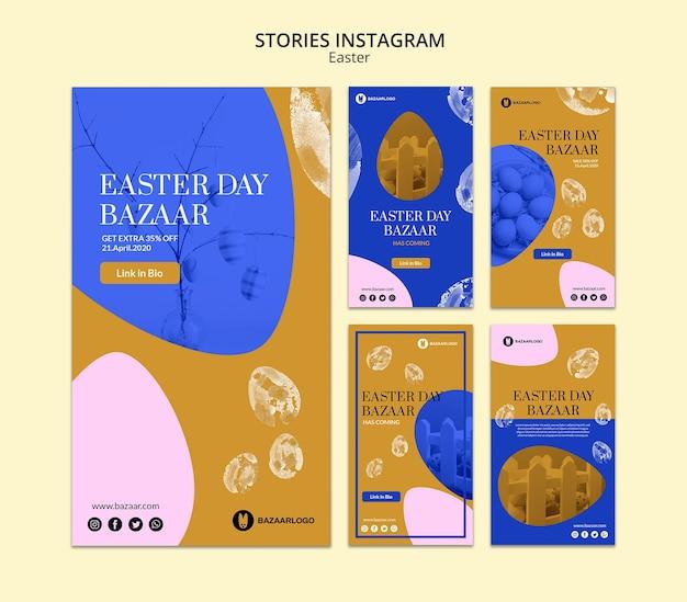 Pasen concept verhalen instagram mock-up
