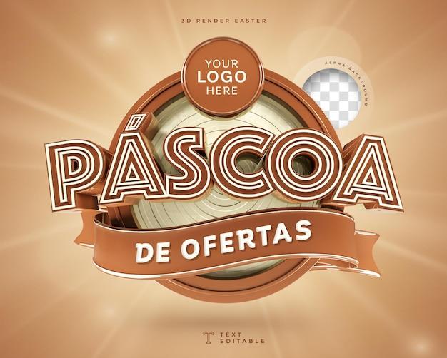Pasen deals in brazilië 3d render chocolade