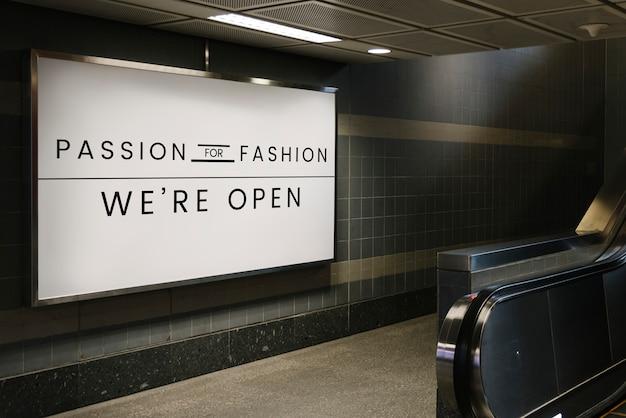 Passie voor mode-uithangbordmodel