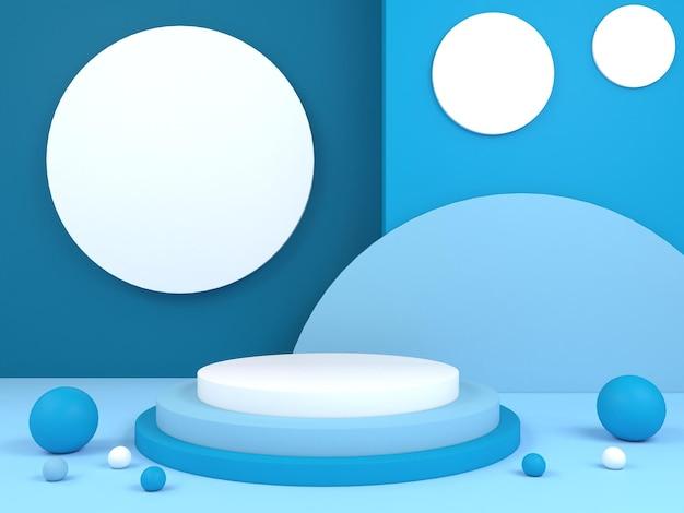 Pastel kleur abstracte geometrische podium achtergrond voor branding en productpresentatie 3d-rendering
