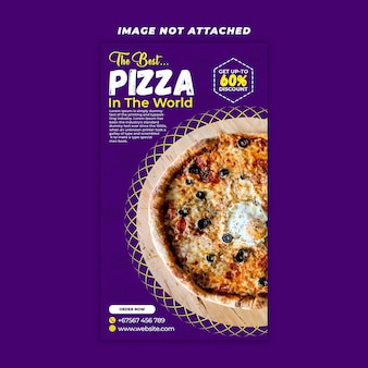 Pastel de pizza story design