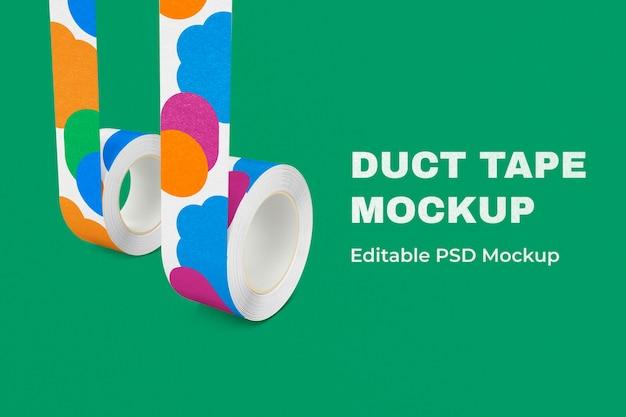 Patroon ducttape mockup psd, bewerkbaar ontwerp