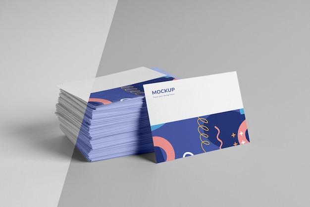 Patroon visitekaartjes mockup arrangement