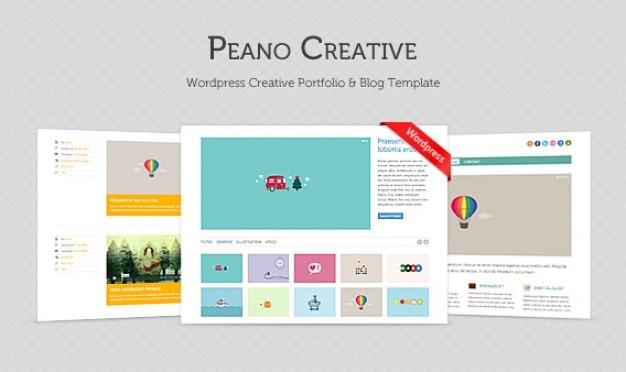 Peano creatief? gratis homepage psd